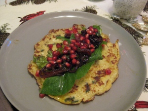 Almond flour crepes with herb chicken