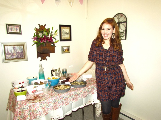 Me posing with empty plates and feeling soooo smug.  :)