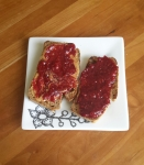 PB&J on Against All Grain's blender bread. Recipe in her ebook, Joyful.